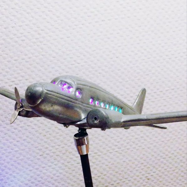 Read more about the treatment: Plane with embedded LEDs